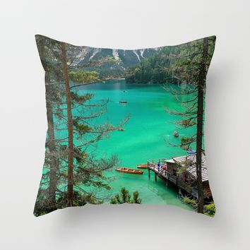 Pragser Wildsee Throw Pillow by Gallery One