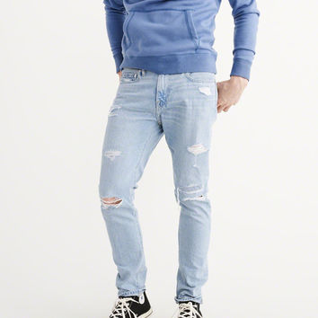Mens Ripped Athletic Skinny Jeans | Mens Bottoms | Abercrombie.com