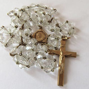 Vintage French, Rock Crystal, Murat Rosary
