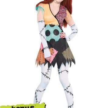 Adult Ragdoll Sally Costume - The Nightmare Before Christmas- Party City