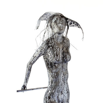 Metal art sculpture - Ballet dancer - Metal wire mesh Sculpture - home decor - Contemporary art