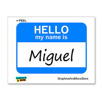 Miguel Hello My Name Is Sticker