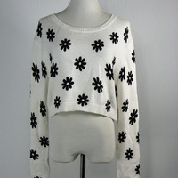 H&M Divided Cropped Daisy Sweater S