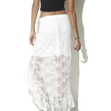 Crochet High Low Maxi Skirt - WetSeal