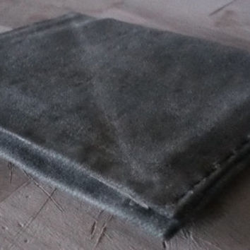 Waxed Canvas Minimalist Wallet. Made from an old Army Tarp