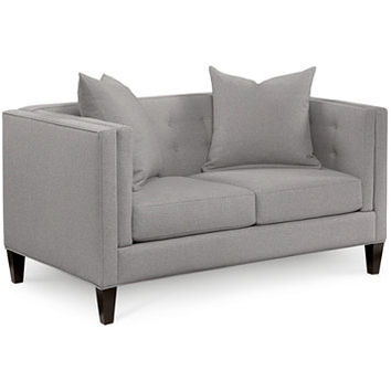 Braylei Track Arm Loveseat, Created for Macy's with 2 Toss Pillows | macys.com