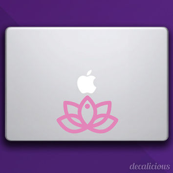 Lotus Flower Yoga Apple Mac Decal Vinyl Laptop Macbook Pro Air Decal Mac Stickers Retina Mac 11 13 15 15 Inch gift for him and gift her