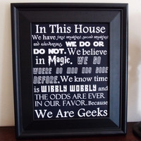 We Are Geeks Art Print. Fandom Home Decor. Typography Print.