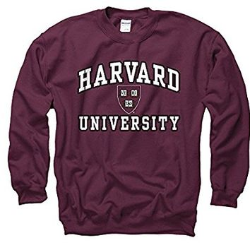 Harvard University Arch White In Black Out Seal Crew Neck Sweatshirt