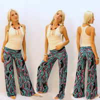 Casual Print Floral Pants [4919204996]