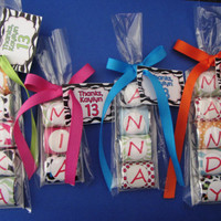 CANDY NAME,Hershey,chocolate,nugget,wrapper,party,personalized,wild animal print,favor