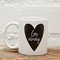 Tickled Teal Go Away Mug