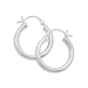 3mm x 22mm Small Hoop Earrings with Click