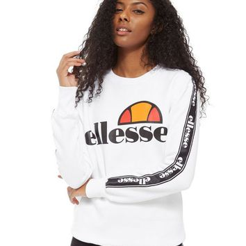 Ellesse Tape Sleeve Crew Sweatshirt | JD Sports