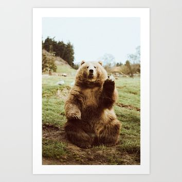 Hi Bear Art Print by Beccatapert