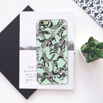 woodland fox party mint iPhone 6s case by Sharon Turner | Casetify