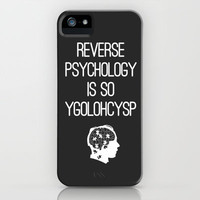 Reverse Psychology iPhone & iPod Case by Budi Satria Kwan