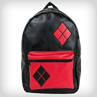 Harley Quinn Fabric Backpack - Spencer's