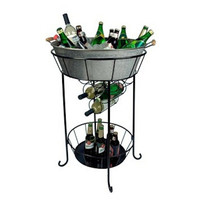 Oasis Party Station, Galvanized Silver, Ice Buckets