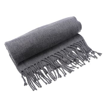 Large Simple Luxurious Pashmina 2-in-1 Scarf Shawls for Women and Men Winter Autumn Warmth