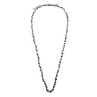 Hand-Knotted Iron & Silver Necklace.