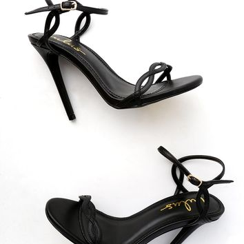 Nadine Black Dress Sandals