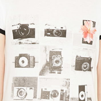 Girls Camera Ringer Tee (Kids)