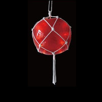 "14.4"" Lighted Roped Red Ball Outdoor Christmas Decoration - Clear Lights"
