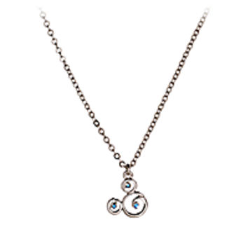 Mickey Mouse Icon Blue Gem Necklace by Arribas