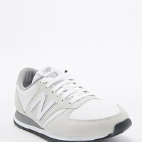 New Balance 420 Suede Runner Trainers in White - Urban Outfitters