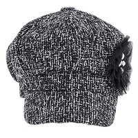 Women's Faux Wool Thick Panel Bohemian Chic Newsboy Cabbie Winter Cap Hat