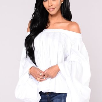 Ismena Off The Shoulder Top   White