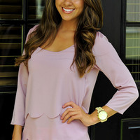 Simply Scalloped Top: Blush | Hope's