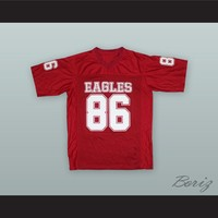 Young M.A 86 Eagles Red Football Jersey