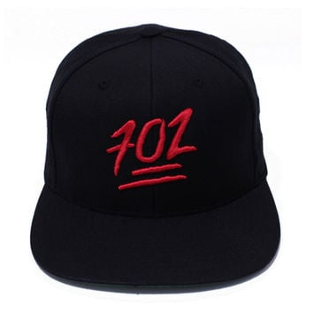 702 Emoji Black/Red Snapback