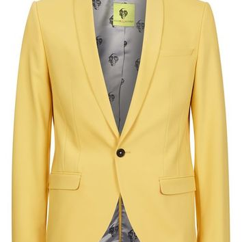 NOOSE & MONKEY Yellow Slim Fit Suit Jacket - Blazers - Clothing