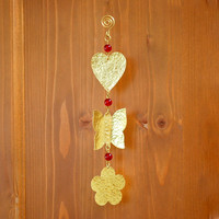 Mobile - Wall Mobile -Valentines - Wall Hanging - Wall Decoration - Home Decor - Rustic - Country - Gift - Brass - Handmade
