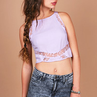 Leo Lace Crop Top | Cute Tops at Pink Ice