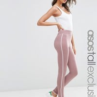 ASOS TALL Marl Legging With Piping Detail