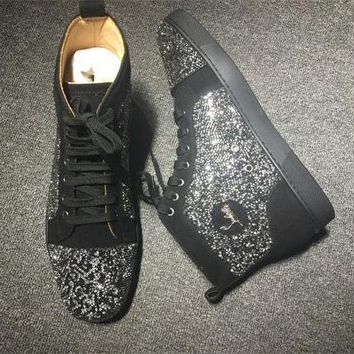 Cl Christian Louboutin Rhinestone Style #2102 Sneakers Fashion Shoes