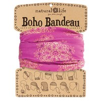 Boho Wrap Magenta With Gold Mandalas - Piace Boutique