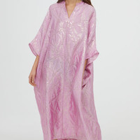 Silk-blend kaftan - Light pink - Ladies | H&M GB