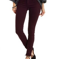 Plum Cello Colored Skinny Jeans by Charlotte Russe