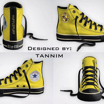 Custom Harry Potter House Hufflepuff Converse Chucks by Tannim