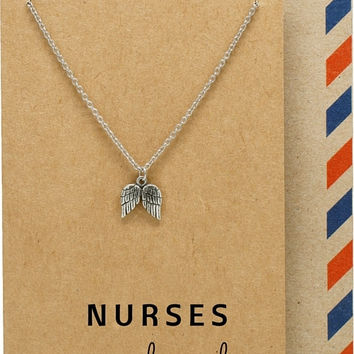 Bea Nurse Jewelry with Angel Wings Pendant