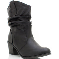 slouchy-leather-cowgirl-boots BLACK WHISKY - GoJane.com