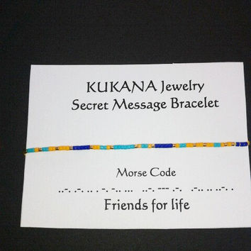 Customized Secret Message Bracelet Morse Code Minimalist Personalized