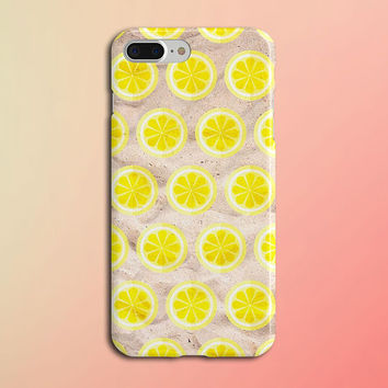Lemon Slice x Summer Marble Phone Case for iPhone 8, iPhone 7 Plus, Samsung Galaxy s8, s7 edge, Note 8, S8 Plus, Google Pixel, Lemonade