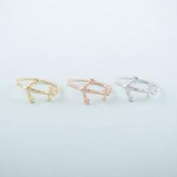 Anchor Ring in Gold or Silver