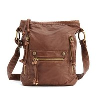 Side-Zip Cross-Body Bag: Charlotte Russe
